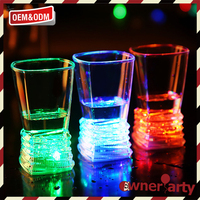 Factory sale various flashing led shot cups fancy drinking glass