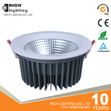 60W High Lumen Retrofit Recessed 8 Inch COB Led Downlight For High Ceiling Projects
