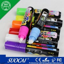 Chalk supplier Textile Marker Pen Colorful Neon Wet Wipe Liquid Chalk for School Office