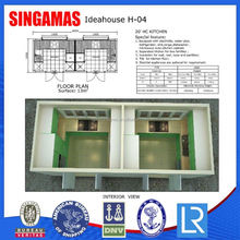 20hc Prefabricated Modern Container Kitchen