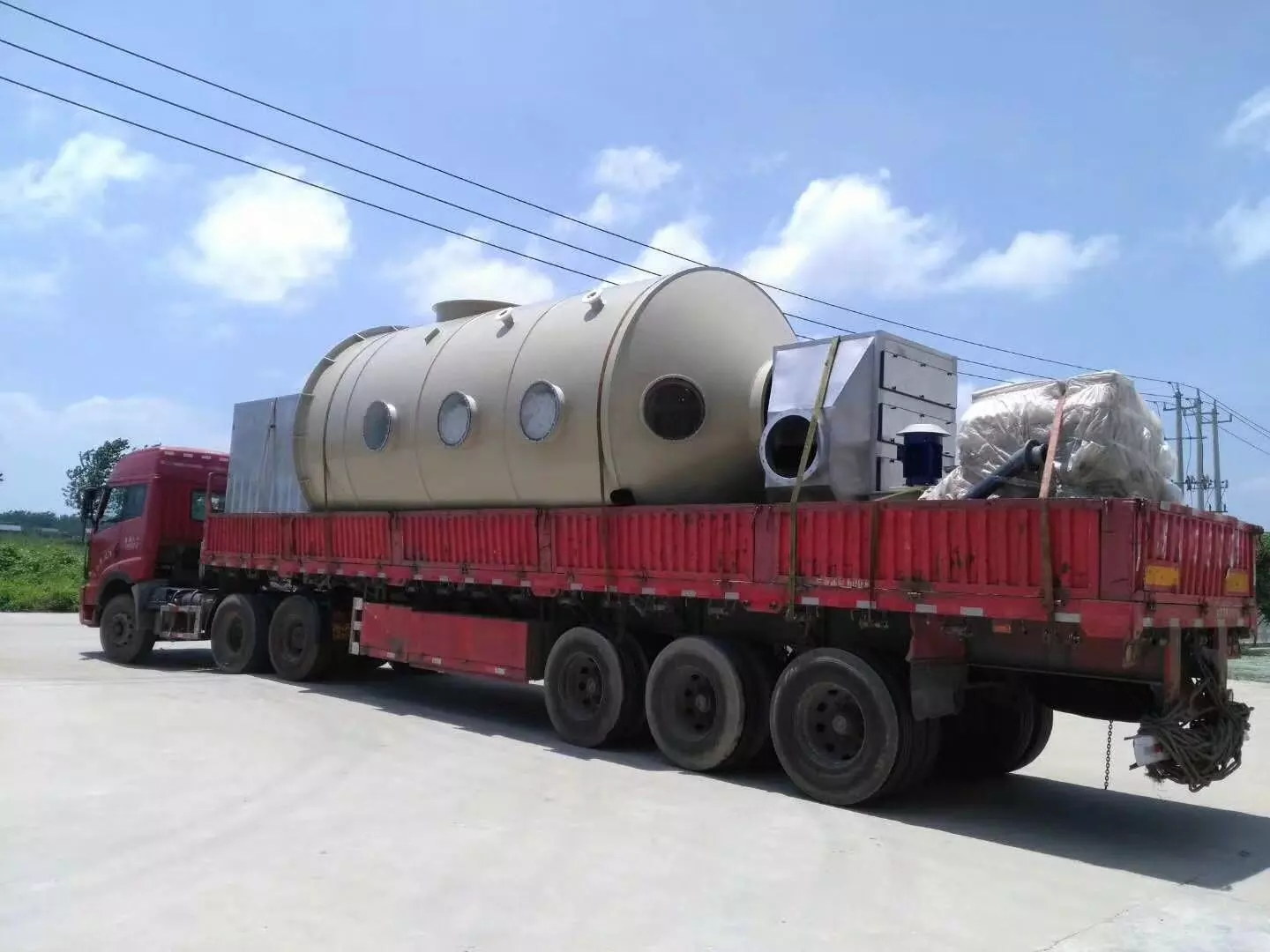 Durable Stainless Steel Wet Scrubber Spray Tower Fume Extractor For Industrial Waste gas Disposal