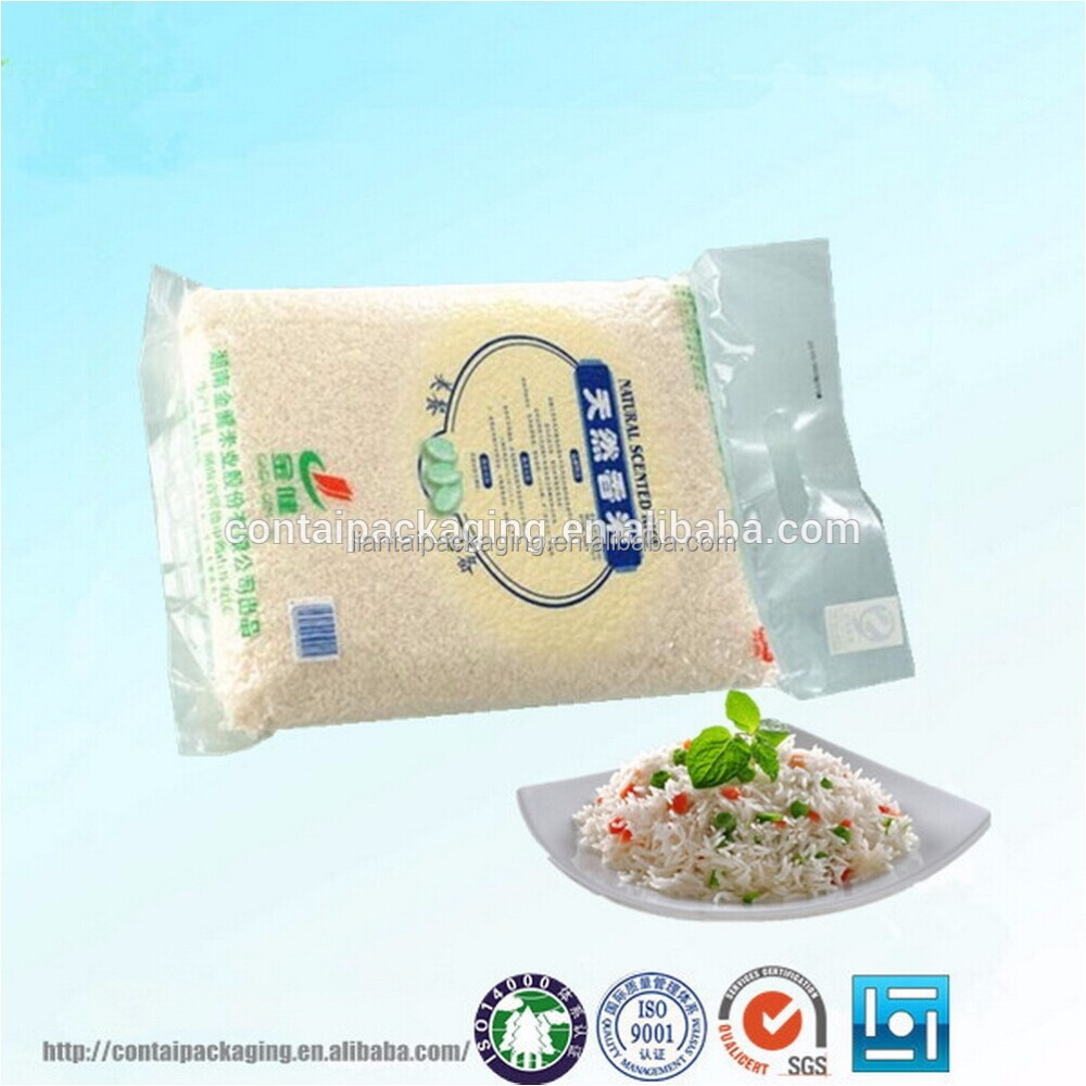 Custom design printing different size plastic food packaging 1kg 2kg 5kg 10kg rice packing bags for sale