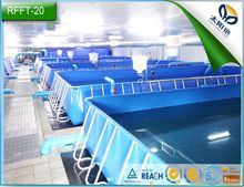 WLY foldable plastic fish tank for RAS fish system design