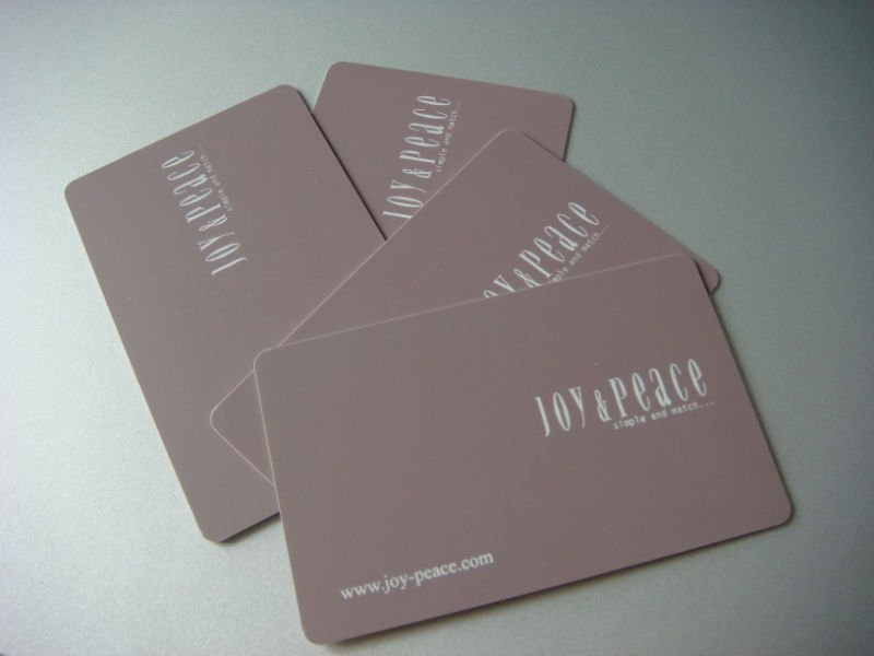 PVC chip card in different chip type