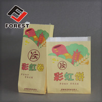 High Quality Greaseproof Brown Kraft Paper Bag For Food, oil proof paper bag