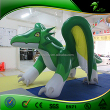 China Supplier Cheap 5m Long Giant PVC Inflatable Green Dragon Model / Vivi And Mighty Inflatable Dragon From Hongyi Toys