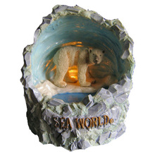 Made in China Sea World Ice Cave Novelty Bear Musical Box