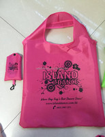 Custom good quality waterproof 190T polyester foldable shopping bag/folding bag