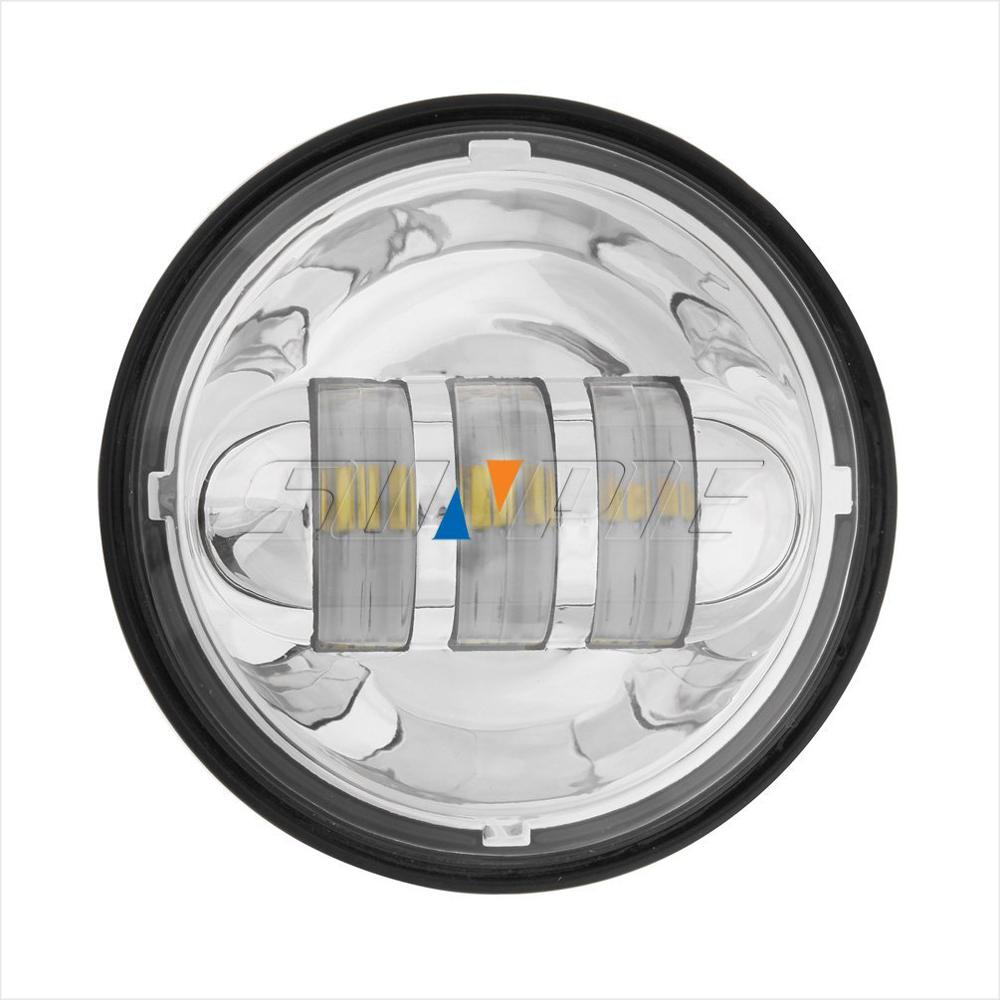 4.5 inch LED Passing Light Fog Lamps for Harley Davidson Auxiliary Light Bulb Motorcycle Daymaker Projector Fog Lamp