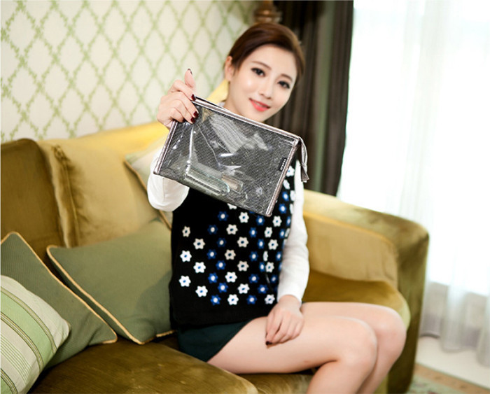OEM promotional transparent clear pvc cosmetic bag travel makeup bag_14