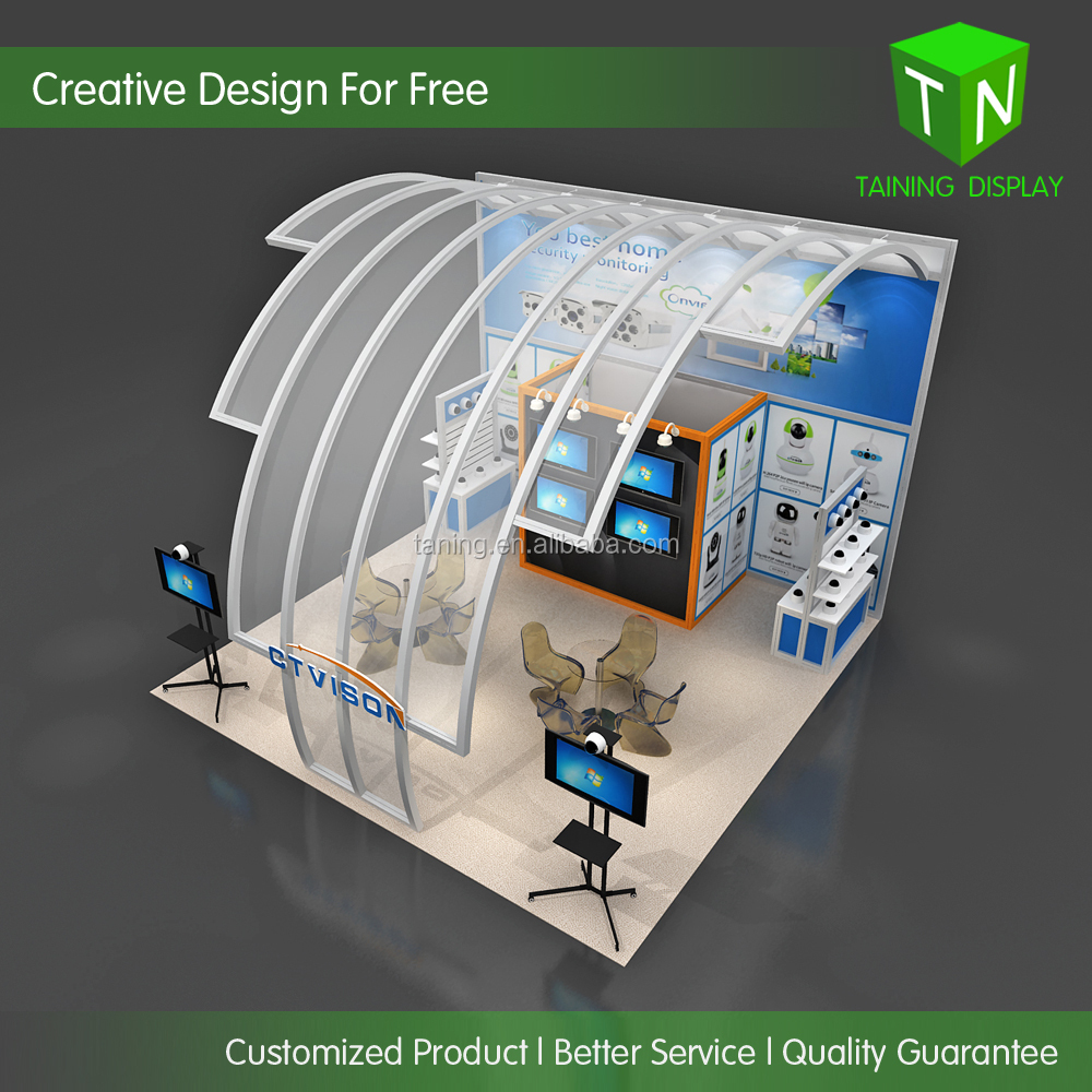20'x20' exhibition booth construction from Taining Display