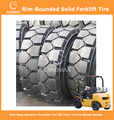 Rim-Bounded Solid Tyres Forklift Tyres 23x9-10/6.50