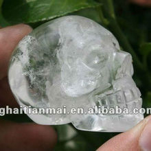 Natural Wholesale Clear Crystal Alien Skull / Hand Carved Crystal Skulls