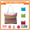 classic stripe cotton canvs extra large tote beach bag with thick rope handles