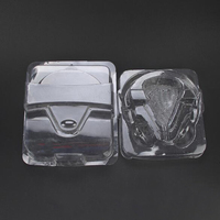 Customized clear plastic clam shell headset packaging