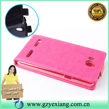 Factory price flip leather cover for huawei ascend g600