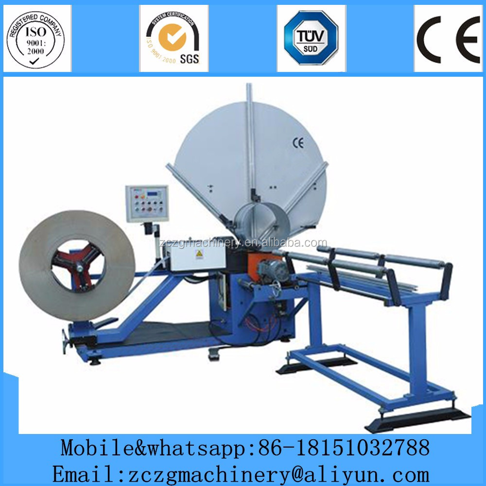 B-1500 round tube forming machine,spiral duct making machine with cheap factory price