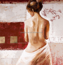 High quality custom decorative women figure oil painting