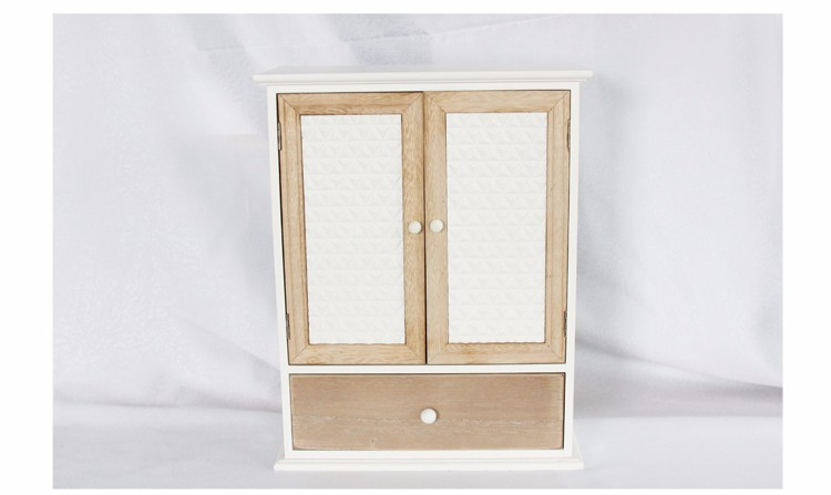 Antique white double sliding door storage cabinets for home & office furniture