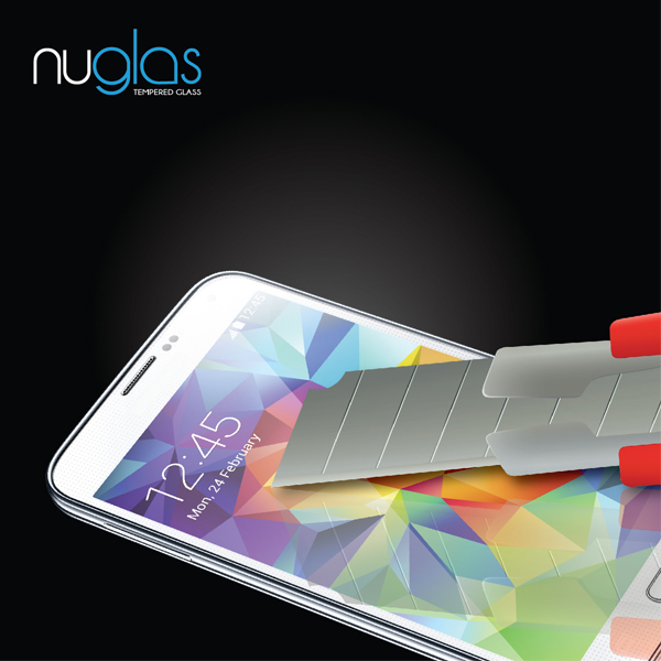 Nuglas Clear Tempered Screen Protector/Guard/Ward For Samsung Galaxy S5 mini