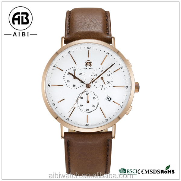 10 ATM water resistant chronograph men watch factory wrist watch