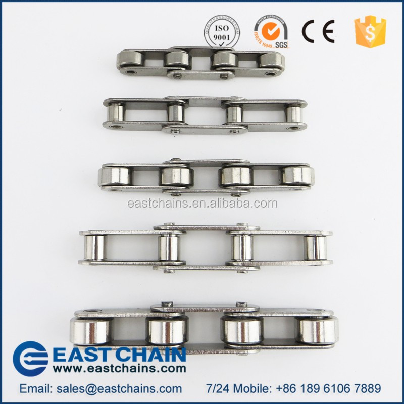 ANSI Standard double pitch 31.75mm 304 stainless steel conveyor chain C2050 with small roller