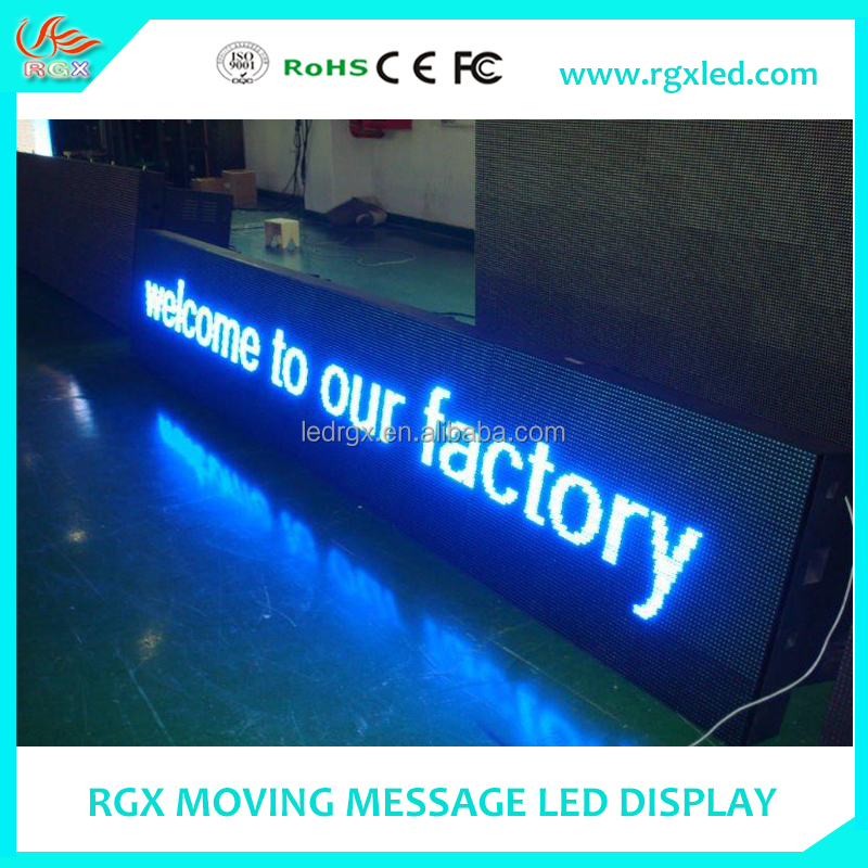 Shenzhen RGX Advertising screen P8 P10 indoor/outdoor LED moving message signs/ billboard display