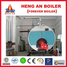 wet back three pass gas fire steam boiler for industrial production and living heating