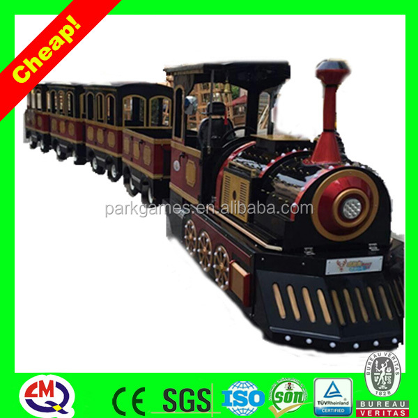 2016 the most innovative train set Amusement Equipment electric used trackless train for sale