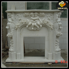 Yellow Marble stone Fireplace manufacturer