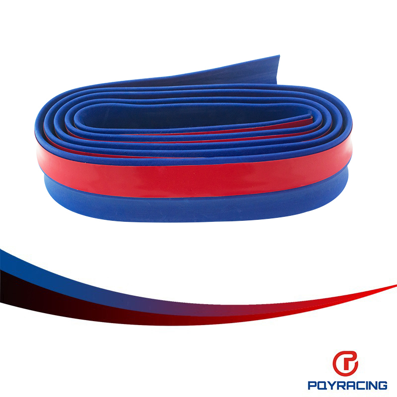 PQY STORE-PU Front Bumper Lip Skirt Protector Multideflector Front Bumper Strip Car Scratch Proof Adhesive Strip PQY-FBL21
