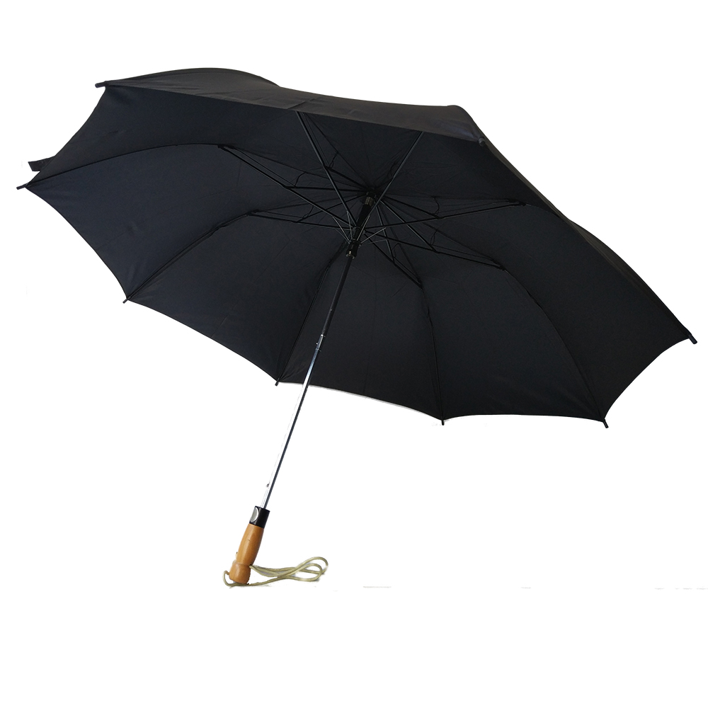 "27""*8k Large Promotional Umbrella Auto Open Wooden Handle Korea Double Layer 2 Folding Umbrella"
