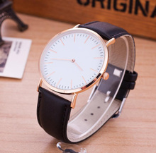 leather two-pin thin ladies <strong>watch</strong> female models