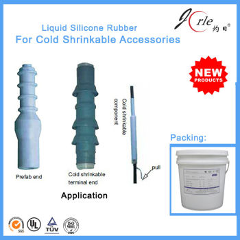 Liquid silicone rubber for cold shrinkable termination