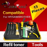 tools bag,Refillable toner tools for HP, samsung toner cartridges (Including 13pcs)