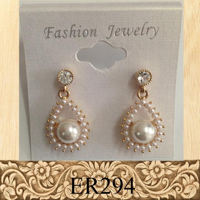 Fashion jewelry beautiful hanging pearl beads earring