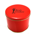 China wholesale promotion round cookies metal tin box packaging