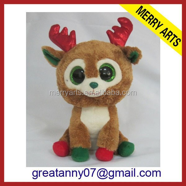 china supplier new product christmas animated reindeer plush nativity christmas tree ornaments