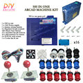 New Arcade DIY Accessories 500 In One + 16A Power supply + 16x Button + 2 Joystick For Arcade MAME JAMMA Games DIY 2Player