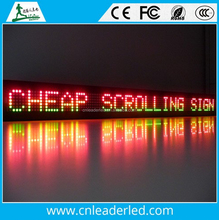 Leader P10 outdoor top quality full color scrolling led taxi display