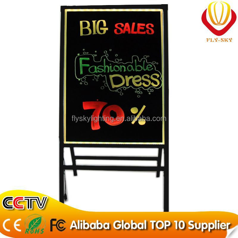 Three kinds of size tempered glass A Stand LED writing board alibaba wholesale best for promotion
