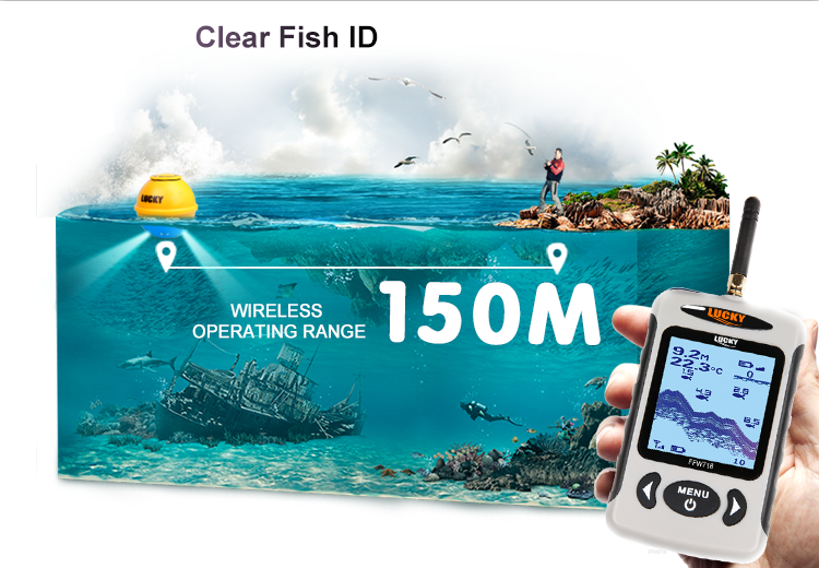 LUCKY portable fishing equipment FFW718LAB hot sale fish finder for outdoor sport