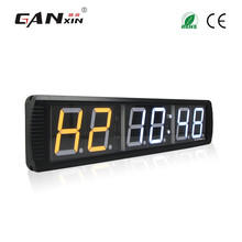 [GANXIN]6 Digit Modern Design Wall-mounted Led Gym Equipment Countdown Interval Fitness Timer