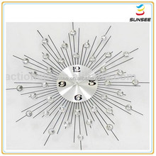 1-3mm Newest style and high quality cartoon shaped design decorative wall clock big size with acrylic