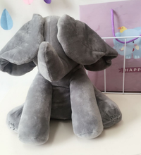 DROPSHIPPING 30cm Peek a boo Electric Elephant Plush Toy Interactive Cute Plush Toy For Kid Speaking Elephant Toy Cool Gift