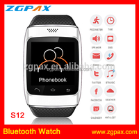 New arrival touch screen smart bluetooth watch with bluetooth sync function