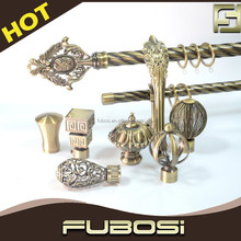 Hot sale double curtain rod/ metal curtain rod bracket