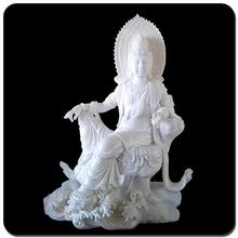 Chinese brand 30% discount white marble silver buddha statue