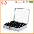 custom-made 12 Grid Slot Watch Display Storage Box Case Jewelry Collection Organizer Holder Aluminum Square Silver