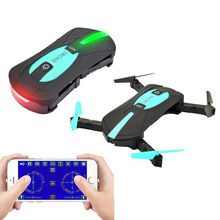 JY018 RC Foldable Pocket Drone 2.4G 6 Axis Flight Track Mode 0.3mp wifi fpv camera VS JJRC H37 mini selfie